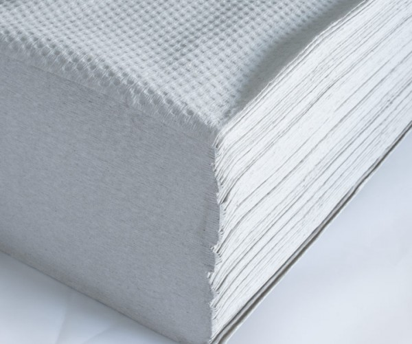 Papierhandtücher 1-lagig grau
