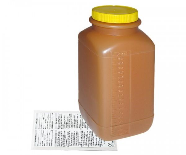 Urinsammelflasche braun