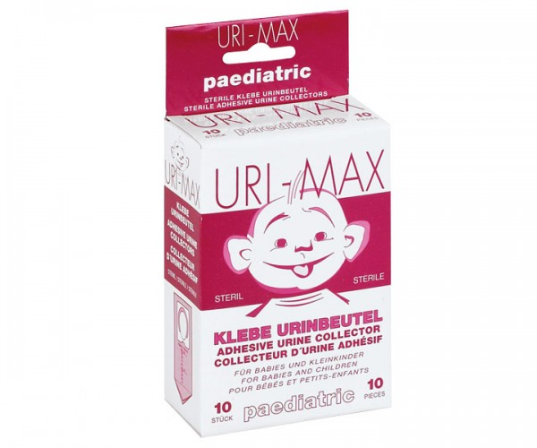 Uri Max Kinder Urin-Klebebeutel, steril, 10 Stück
