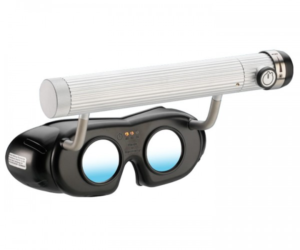LED Nystagmusbrille schwarz