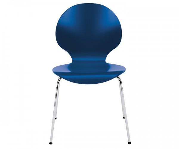 Besucherstuhl Curve blau